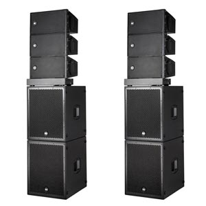 RCF HDL10A Ground Stack PA System