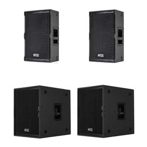 RCF TT22A-II System Package inc TTS15A-II Subs