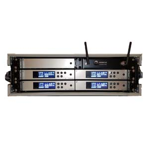 Sennheiser G4 100 Series 4-Way Radio Mic Rack ( Value Rack )